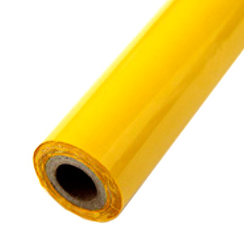 "Matte Yellow Hot Stamp Foil Roll (1/2"" Core) (MYBF145200F) - $17.59 Image 1"