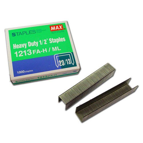 "MAX Corp 1/2"" Staples For The HD-12N Series - 1000 Pack (1213FA-H) - $4.13 Image 1"