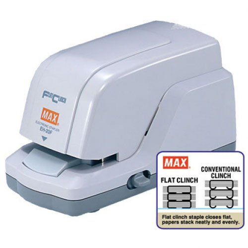 MAX Corp Electronic 20 Sheet Flat Clinch Stapler (EH-20F) Image 1