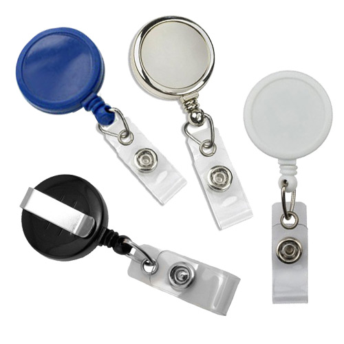Max Label Round Badge Reel with Slide Clip - 25pk (MYMLRBRSLC), MyBinding brand Image 1