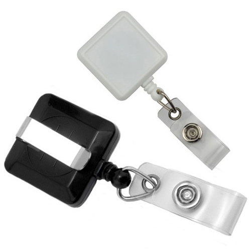 Max Label Square Badge Reel with Slide Clip - 25pk (MYMLSBRSLC), MyBinding brand Image 1