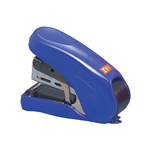 MAX Corp Light Effort Blue Compact Flat Clinch Stapler (HD-10FL-BE) Image 1