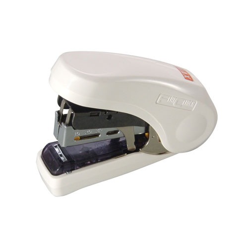 MAX Corp Light Effort White Compact Flat Clinch Stapler (HD-10FL-WH) Image 1