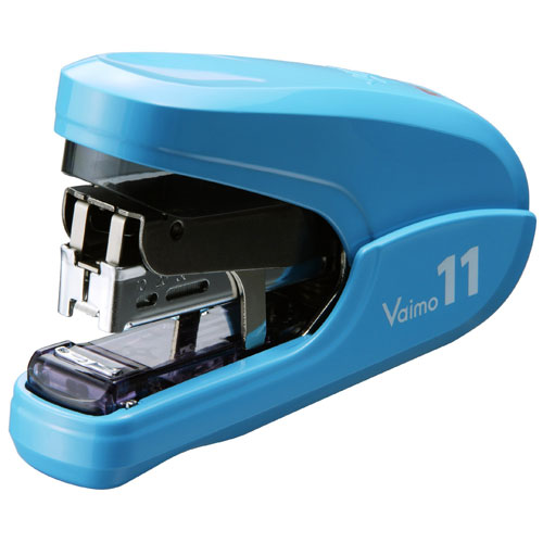 MAX Corp Vaimo 11 Blue Flat Clinch 35-Sheet Compact Stapler (HD-11FLK-BL) Image 1