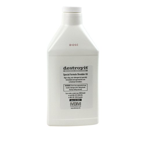 Destroyit MBM Shredder Oil - 1 Quart Bottle (6pk) (MB-ACCED21/6) Image 1