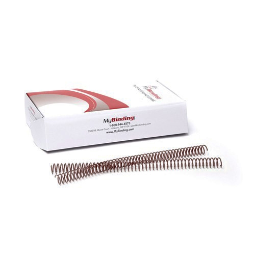 Medium Brown 4:1 Pitch Plastic Spiral Binding Coil - 100pk (MYSC4MB), MyBinding brand Image 1