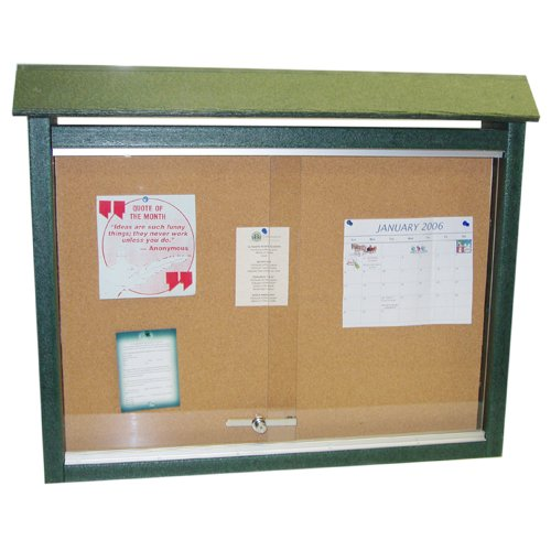 Frog Furnishings Medium One-Sided Message Center w/ No Post - Green (JH-PBMC2GRE) Image 1