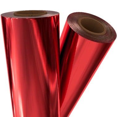 "Medium Red Metallic 24"" x 1000' Laminating / Toner Fusing Foil (RED-40-1000) - $347.29 Image 1"