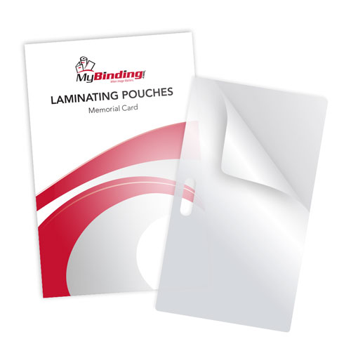 Memorial Card Size Laminating Pouches with Long Side Slot - 100pk (LSLTLPMEMORIAL) Image 1