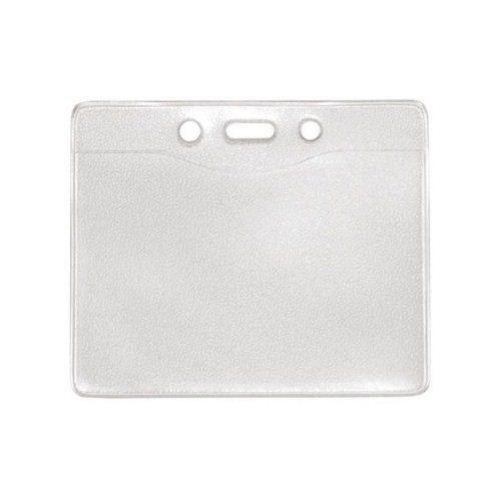 Military Size Horizontal Clear Vinyl Badge Holders w/ Holes - 100pk (1815-1200) Image 1