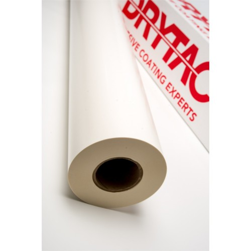 "Drytac MultiTac White 51"" x 300' Double-Sided Mounting Adhesive (MTACW51300) Image 1"