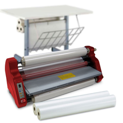 "MY2700 27"" Wide Roll Laminator Starter Kit with 2 Rolls of Film and Optional Work Station (MY2700L-K) Image 1"