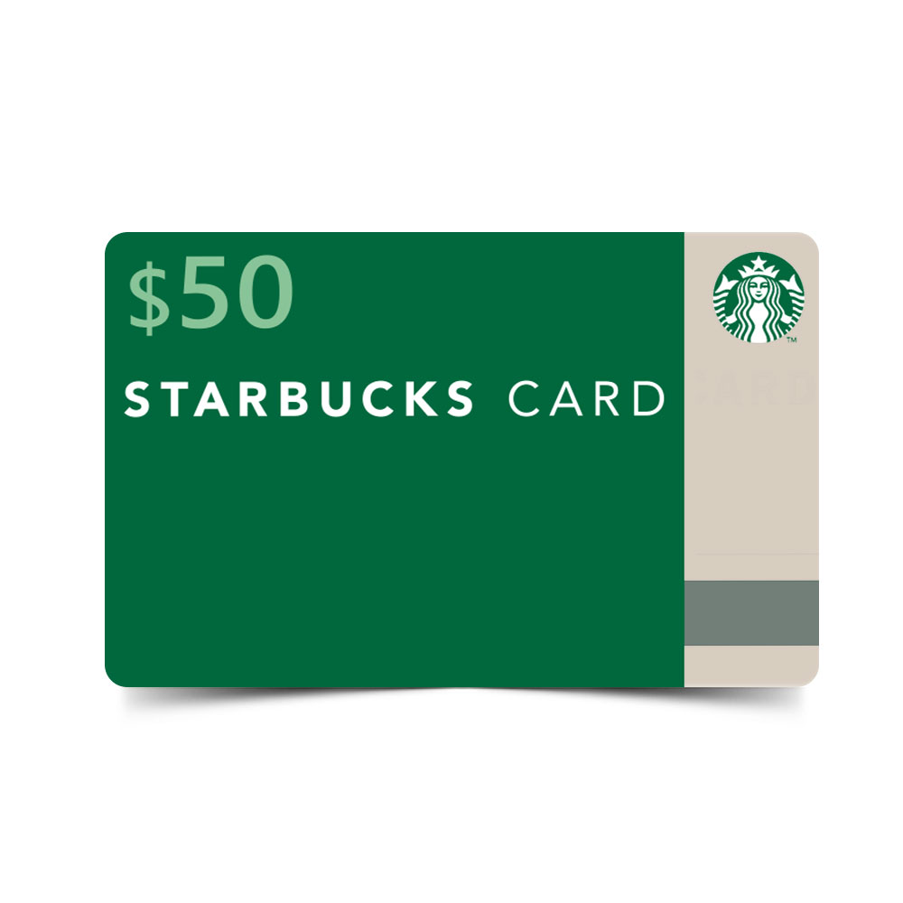 Starbucks Card ($50 Value) (Coffeecard50) - $50 Image 1