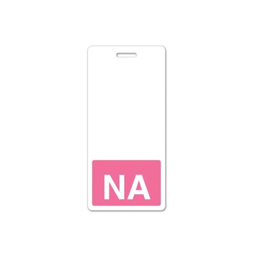 NA Vertical Badge Buddies (Pink Bar/White Text) - 25pk (1350-2136), MyBinding brand Image 1