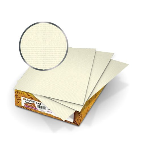"Neenah Paper Natural White Classic Laid 8.75"" x 11.25"" Covers With Windows - 50 Sets (MYCLC8.75X11.25CNW80W) Image 1"