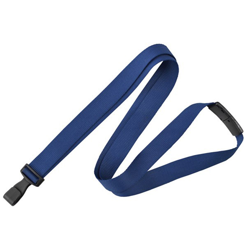 Navy Blue Anti-Microbial Break-Away Lanyard with Plastic Hook - 100pk (2136-3403) Image 1