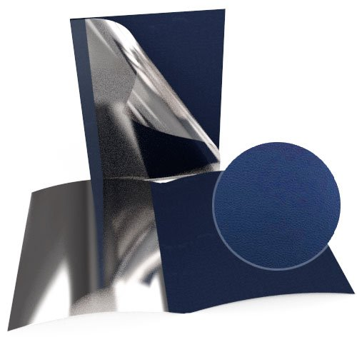 "1/8"" Navy Blue Leatherette Regency Clear Front Thermal Covers - 100pk (SO800T180NVC) - $169.84 Image 1"