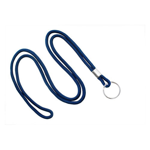 Round Cord Lanyard with Ring Image 1