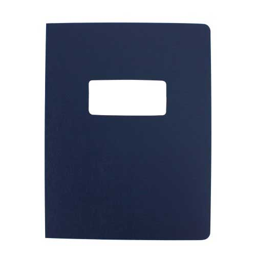 "16mil Navy Leather Grain Poly 8.5"" x 11"" Covers With Windows (50 sets) (AKCLT16CSNV01W) Image 1"