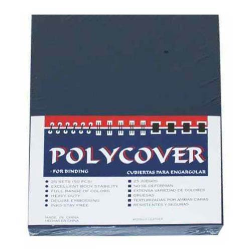 Navy Leather Grain Poly Covers (MYLGCNV), Covers Image 1