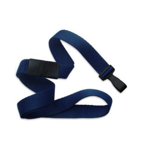 Navy Microweave Break-Away Lanyard with Wide Plastic Hook - 100pk (MYID21384782) Image 1