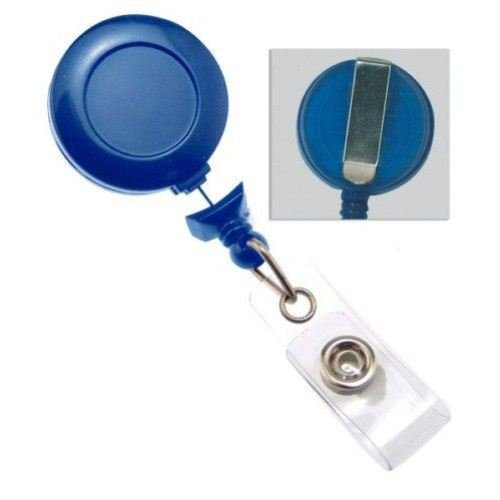 Navy No-Twist Badge Reel with Belt Clip - 25pk (2120-3051)