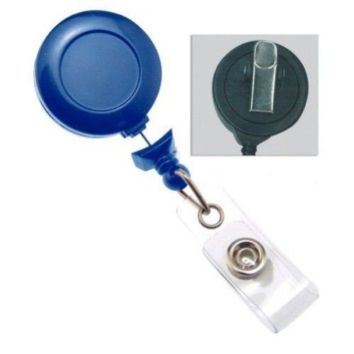 Navy No-Twist Badge Reel with Swivel Clip - 25pk (2120-7641)