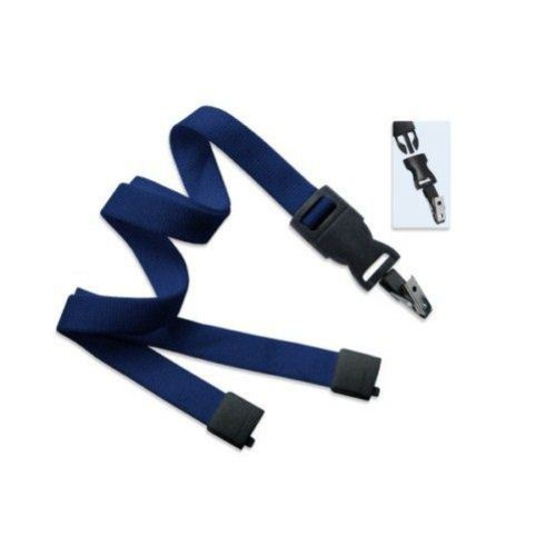 Navy Optiweave Break-Away Lanyard with DTACH Bulldog Clip - 100pk (2135-4663) Image 1