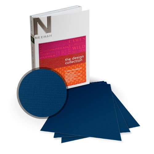"Neenah Paper Oxford Blue Chip Textured 5.5"" x 8.5"" 100lb Card Stock - 18 Sheets (NOCBC400-C) Image 1"