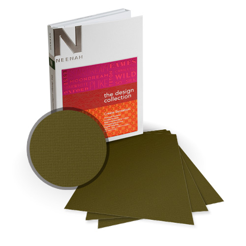 "Neenah Paper Oxford Bronzed Textured 8.5"" x 11"" 80lb Card Stock - 9 Sheets (NOCBR320-A) Image 1"