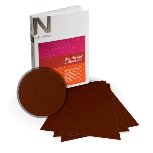 "Neenah Paper Oxford Burned Textured 5.5"" x 8.5"" 80lb Card Stock - 18 Sheets (NOCB320-C) - $5.89 Image 1"
