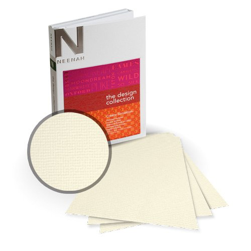 "Neenah Paper Oxford Cream Textured 13"" x 19"" 80lb Card Stock - 4 Sheets (NOCCM320-H) Image 1"