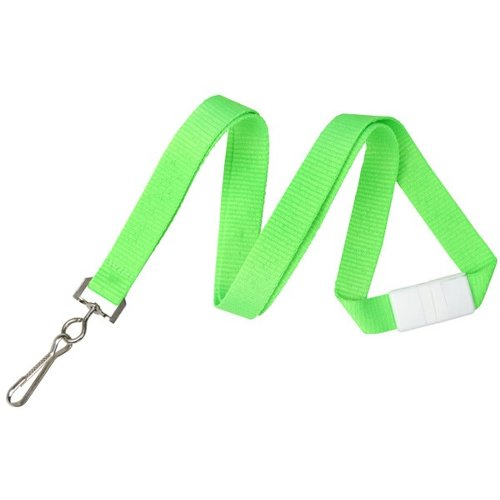 "Neon Green 5/8"" Breakaway Lanyard With Sewn Nickel-Plated Steel Swivel Hook - 100pk (2138-5044), MyBinding brand Image 1"
