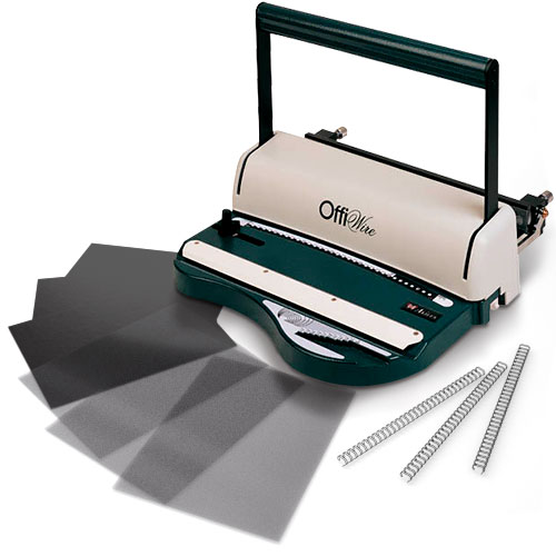 Akiles OfficWire Manual 3:1 Wire Binding Starter Kit with Supplies and Covers (OffiWire31-K)