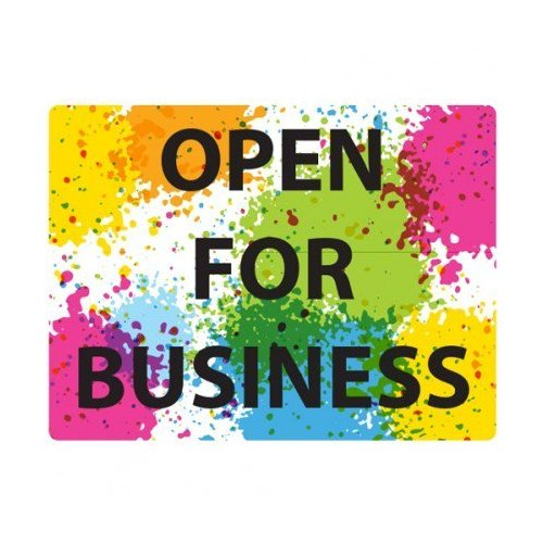 "Open For Business 9"" x 12"" Repositionable Signage - 5/Pack (MYBCCSOB9X12)"