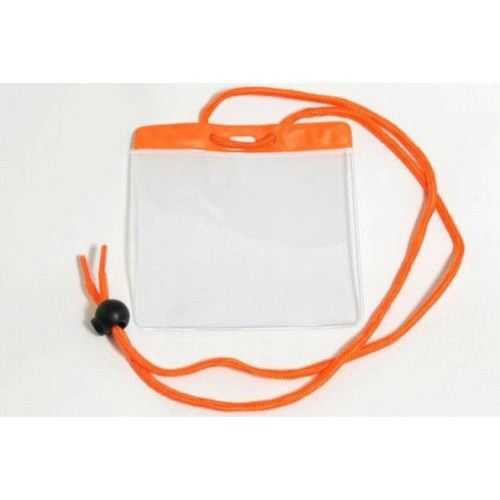 Orange Extra Large Color Bar Badge Holders with Neck Cords - 100pk (1860-2905) Image 1