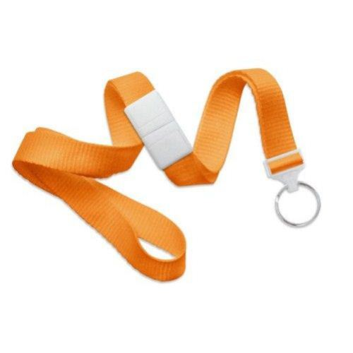 Orange Microweave Break-Away Lanyard with NPS Split Ring - 100pk (MYID21383655) Image 1