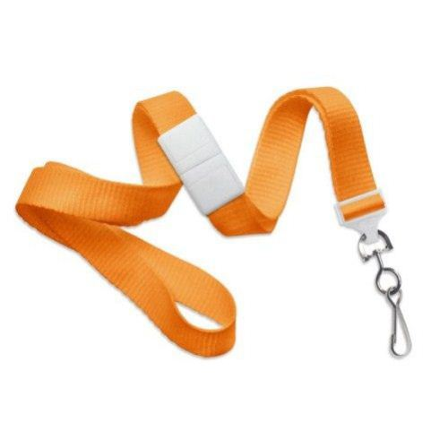 Orange Microweave Break-Away Lanyard with NPS Swivel Hook - 100pk (2138-5005) Image 1