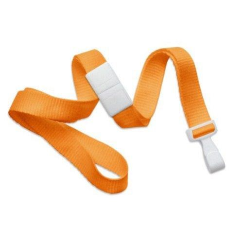 Orange Microweave Break-Away Lanyard with Wide Plastic Hook - 100pk (MYID21384779) Image 1