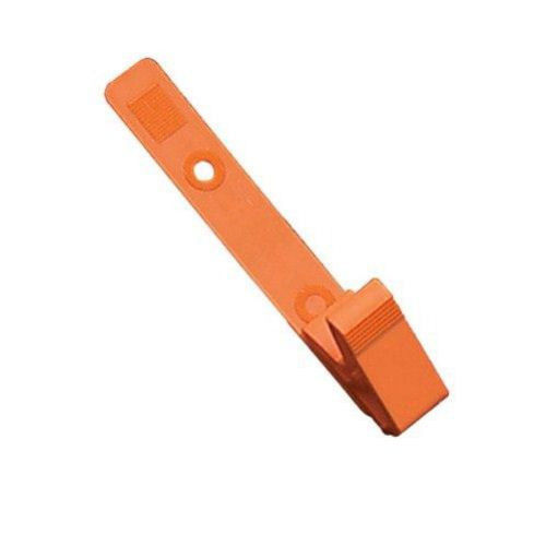 Orange Plastic Straps with Knurled Thumb-Grip Clips - 100pk (2115-2005) Image 1