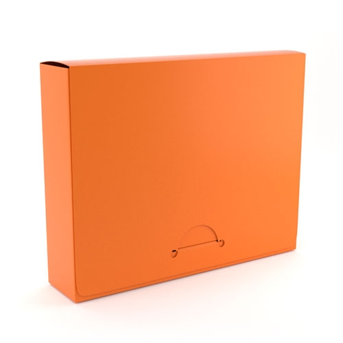 "1"" Letter Orange Poly Document Boxes (MYPDB100OR), Binding Covers Image 1"