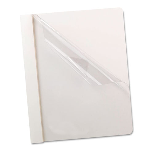 "Oxford 1/2"" Clear/White Clear Front Report Cover - 25pk (ESS-58804) - $34.44 Image 1"