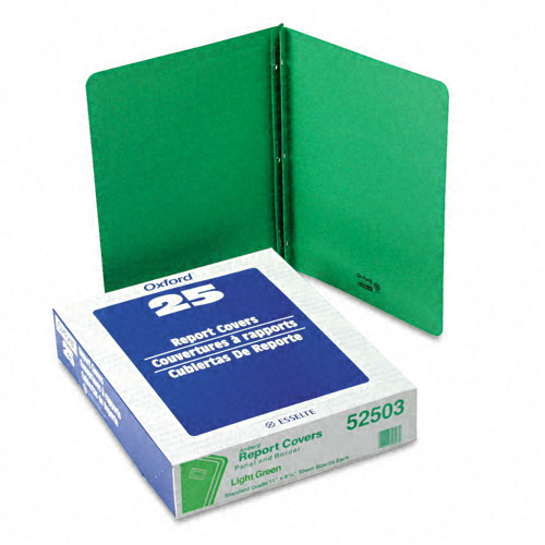 "Oxford 1/2"" Lt Green Title Panel Border Front Report Cover (ESS-52503) Image 1"
