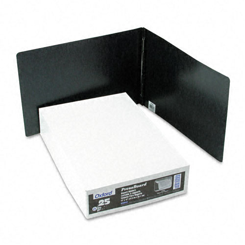 "Oxford 3"" Black Pressboard Side Hinge Report Cover (ESS-PSHRC3BK) - $2.83 Image 1"