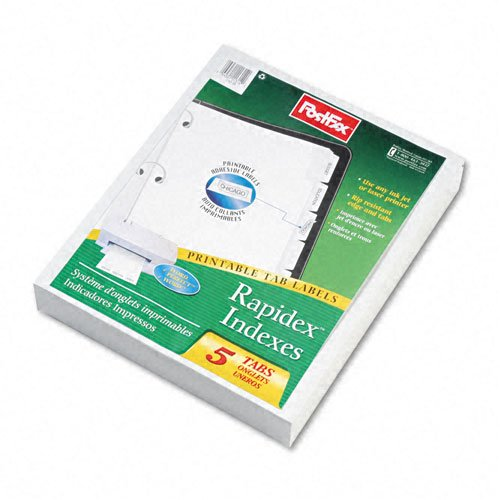 Oxford 5-tab White Custom Label Tab Dividers - 25pk (ESS-11314) - $77.09 Image 1