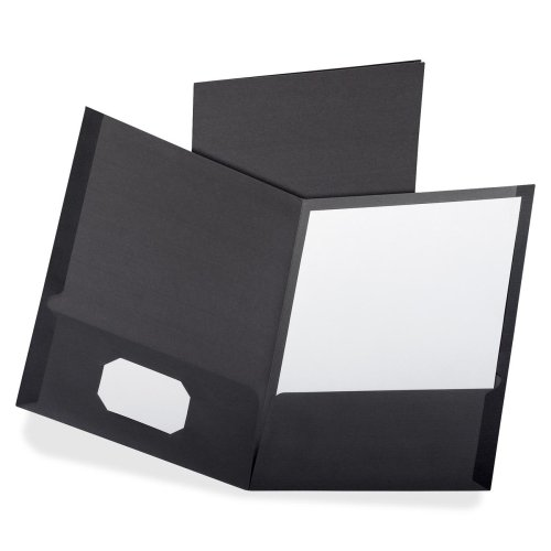 Oxford Black Linen Twin-Pocket Portfolio - 5pk (OXF50506) Image 1