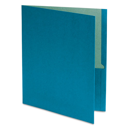 Oxford Blue Recycled Twin-Pocket Portfolio - 25pk (ESS-78502) Image 1