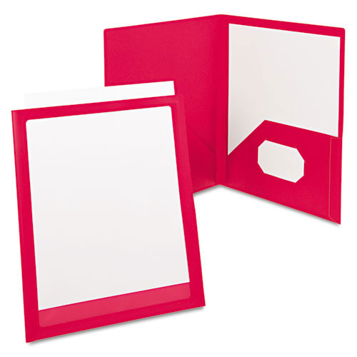 Oxford Red ViewFolio Poly Portfolios (ESS-57443), Oxford brand Image 1