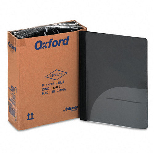 Oxford Clear/Onyx Clear Front Report Cover with CD Slot 5pk (ESS-57727) Image 1