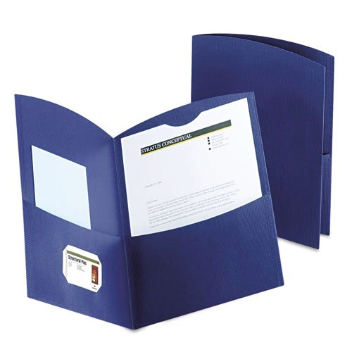 Two Pocket Folders with Business Card Holder Image 1
